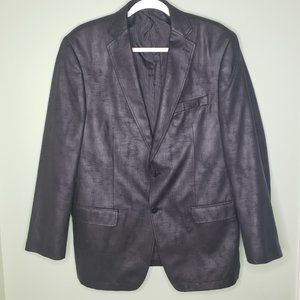 CALVIN KLEIN • mens coated black sport coat blazer